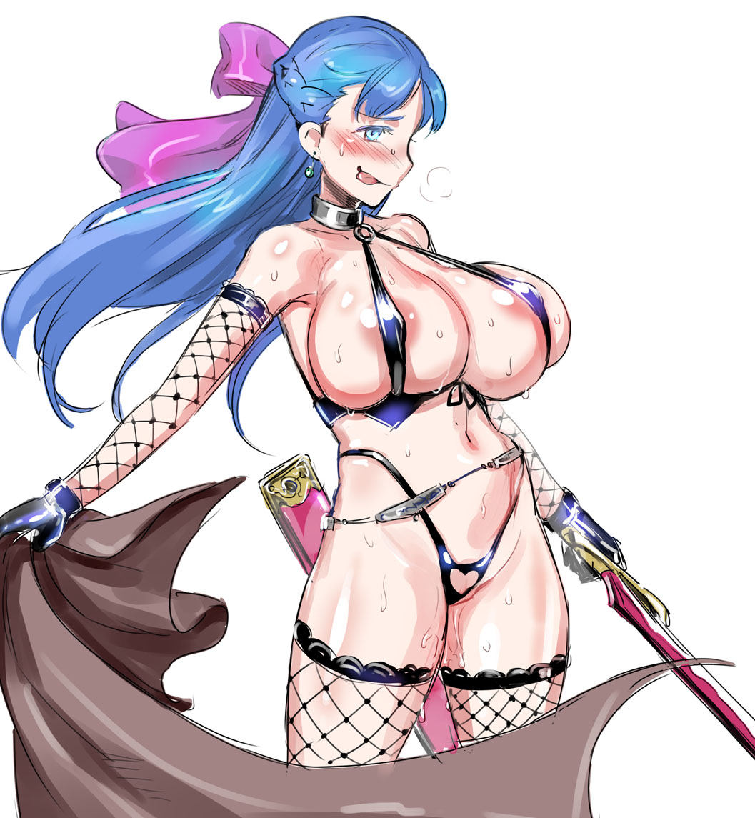 eye blue 11 dragon quest At&t girl is thick